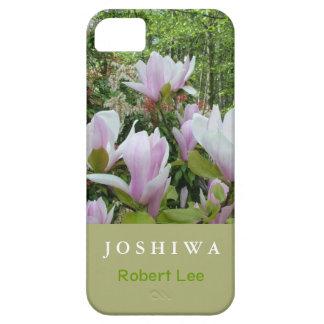 La magnolia púrpura elegante florece la caja del iPhone 5 Case-Mate carcasa