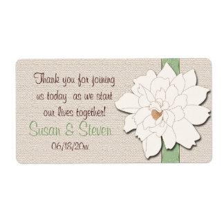 La magnolia soña al pegatina del favor etiquetas de envío