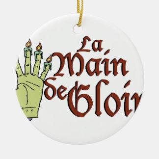 La Main de Gloire Ceramic Ornament