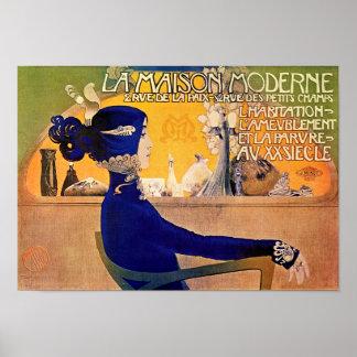 La Maison Moderne - Art Nouveau Print by M. Orazi