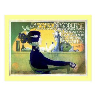 La Maison Moderne Art Noveau Postcard