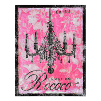 """La Maison Rococo ~ Invitation 4.25"""" X 5.5"""" Invitation Card"""