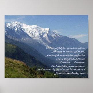 La majestad de la montaña púrpura póster