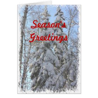 La majestad del invierno tarjeta de felicitación