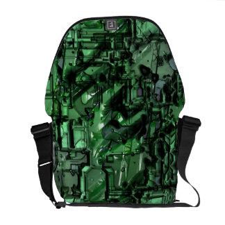 La mala bolsa de mensajero del robot 2 bolsas de mensajeria