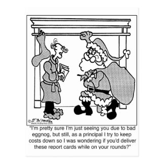 La mala yema lleva a la vista de Santa Tarjetas Postales