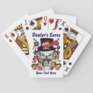 La maldición 1 del distribuidor autorizado el juga baraja de póquer