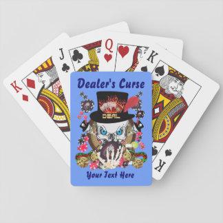 La maldición 1 del distribuidor autorizado el juga cartas de póquer