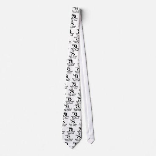 La maldición 75 nunca miraba este bueno (el negro) corbatas personalizadas