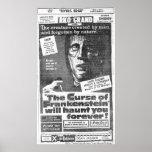 """""""La maldición de 1957) anuncios de Frankenstein"""" ( Poster"""