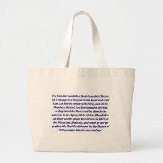 La maldición del libro bolsa tela grande