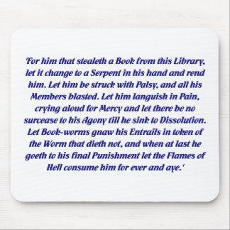 La maldición del libro tapete de ratón