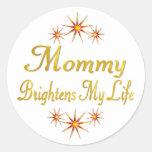 La mamá aclara mi vida etiquetas redondas
