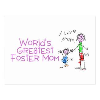 La mamá adoptiva más grande de los mundos tarjeta postal