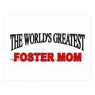La mamá adoptiva más grande del mundo tarjeta postal