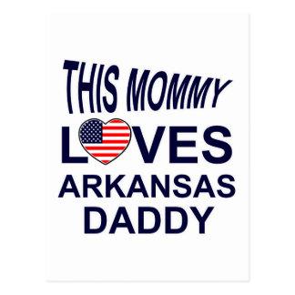 la mamá ama al papá de Akansas Tarjetas Postales