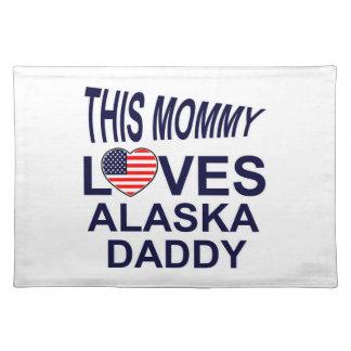 la mamá ama al papá de Alaska Mantel Individual