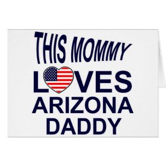 la mamá ama al papá de Arizona Tarjeta De Felicitación