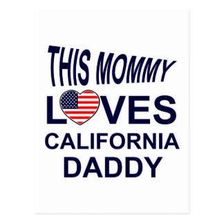 la mamá ama al papá de California Tarjeta Postal
