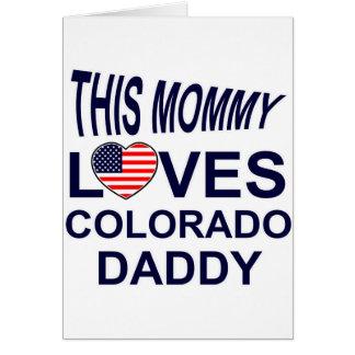 la mamá ama al papá de Colorado Tarjeta De Felicitación