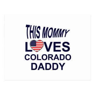 la mamá ama al papá de Colorado Tarjeta Postal