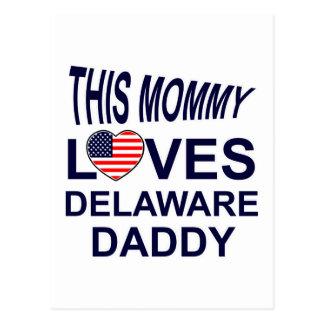 la mamá ama al papá de Delaware Tarjeta Postal