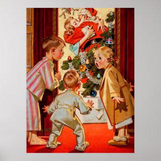 La mamá besa a Papá Noel Impresiones