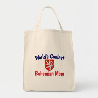 La mamá bohemia más fresca bolsa tela para la compra
