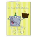 La mamá come más 90.a tarjeta de cumpleaños de la