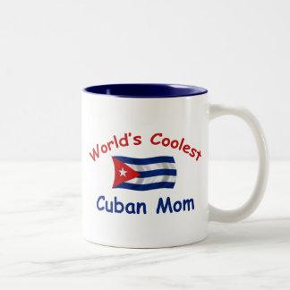 La mamá cubana más fresca del mundo taza de dos tonos