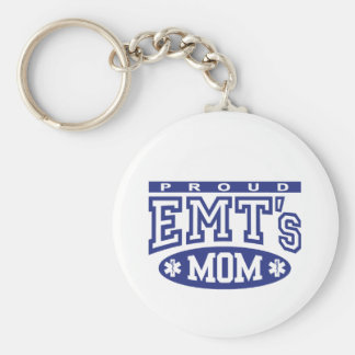 La mamá de EMT orgulloso Llavero Redondo Tipo Pin
