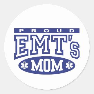 La mamá de EMT orgulloso Pegatina Redonda