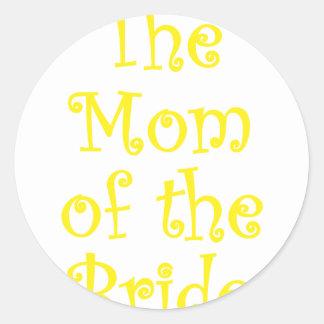 La mamá de la novia pegatinas redondas