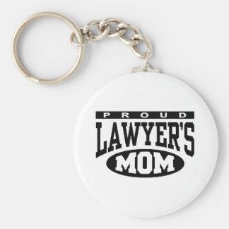 La mamá del abogado orgulloso llavero redondo tipo pin