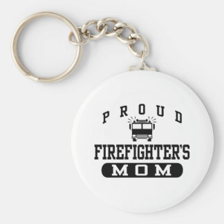La mamá del bombero llavero redondo tipo pin