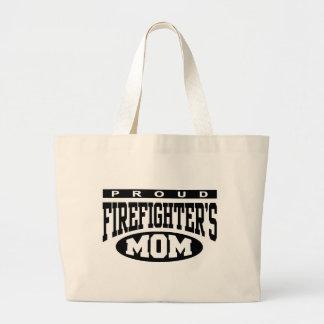 La mamá del bombero orgulloso bolsa lienzo