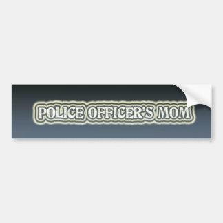 La mamá del oficial de policía pegatina para auto