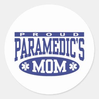 La mamá del paramédico pegatina redonda