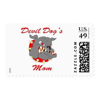 La mamá del perro de diablo del USMC Estampillas