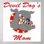 La mamá del perro de diablo del USMC Poster