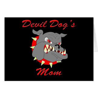 La mamá del perro de diablo del USMC Tarjeta De Felicitación