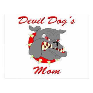La mamá del perro de diablo del USMC Tarjetas Postales