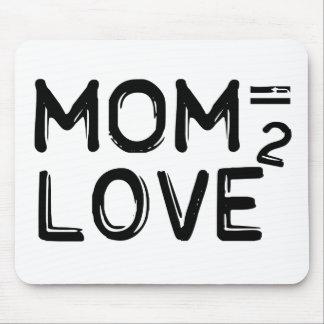 La mamá = el amor ajustaron el día de madre Mousep Alfombrilla De Raton