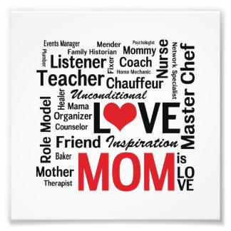 La mamá es amor - el día de madre o el cumpleaños fotografías
