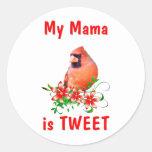 La mamá es dulce pegatina redonda