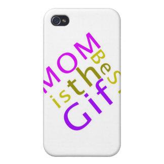 La mamá es la mejor caja de la mota del regalo iPhone 4 protector