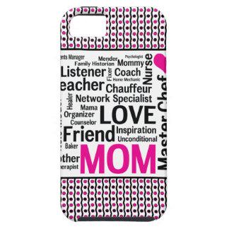 La mamá es regalo del día de madre del amor lo iPhone 5 carcasas