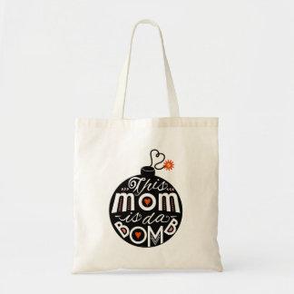 La mamá es tipografía caprichosa de las madres bolsa tela barata