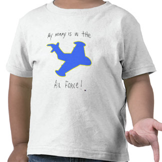 """La """"mamá está en camiseta de la fuerza aérea"""""""