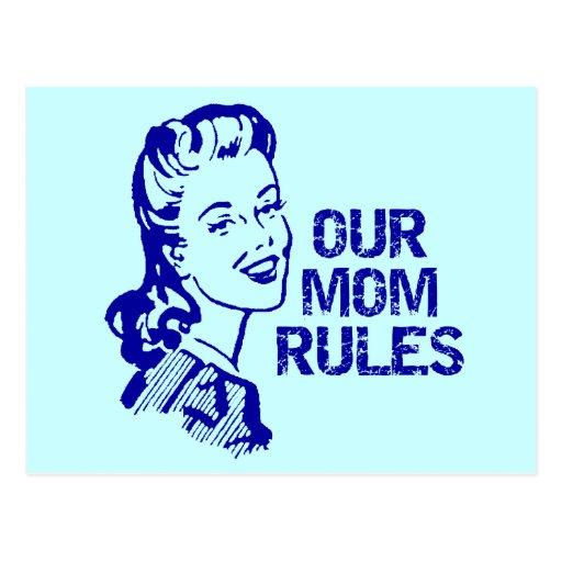 La mamá gobierna las camisetas y los regalos para postales